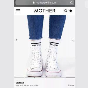 2 Pairs Of MOTHER DENIM 'Mother F*cker' Socks